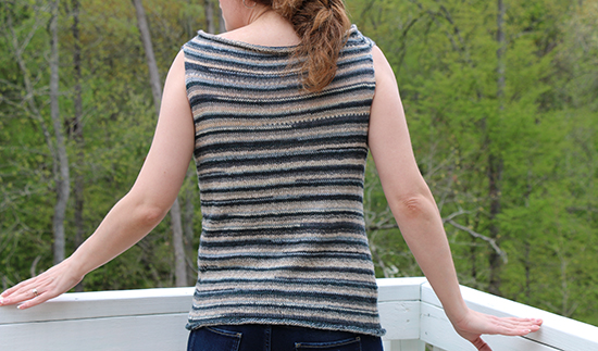 Back of Knit Wool Summerfly Shirt