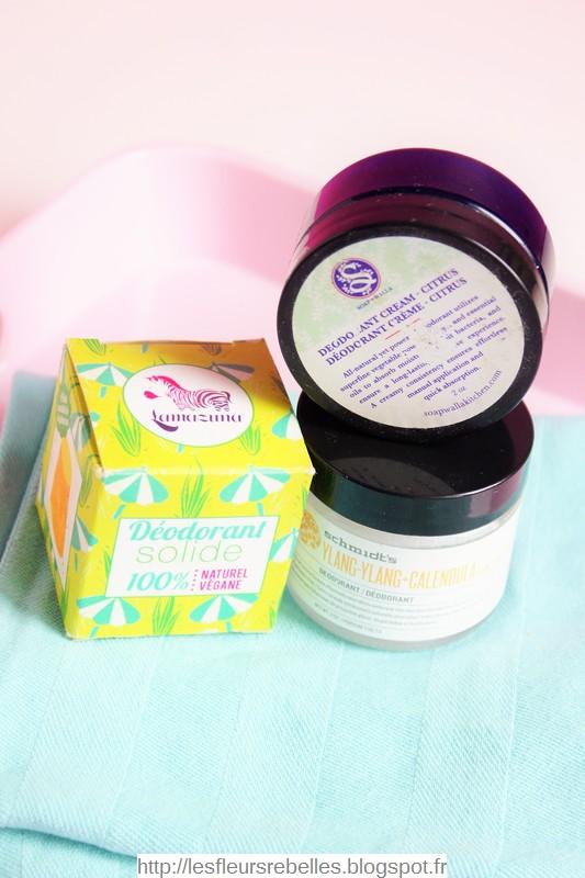 Déodorants naturels solides Lamazuna, Soapwalla et Schmidt's