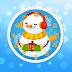 Merry Christmas Snowman Clock Screensaver
