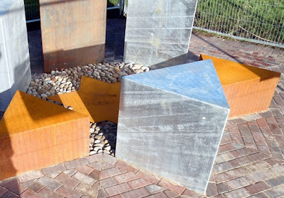 The new Holocaust Memorial taking shape in Brigg on January 8, 2019 - see Nigel Fisher's Brigg Blog