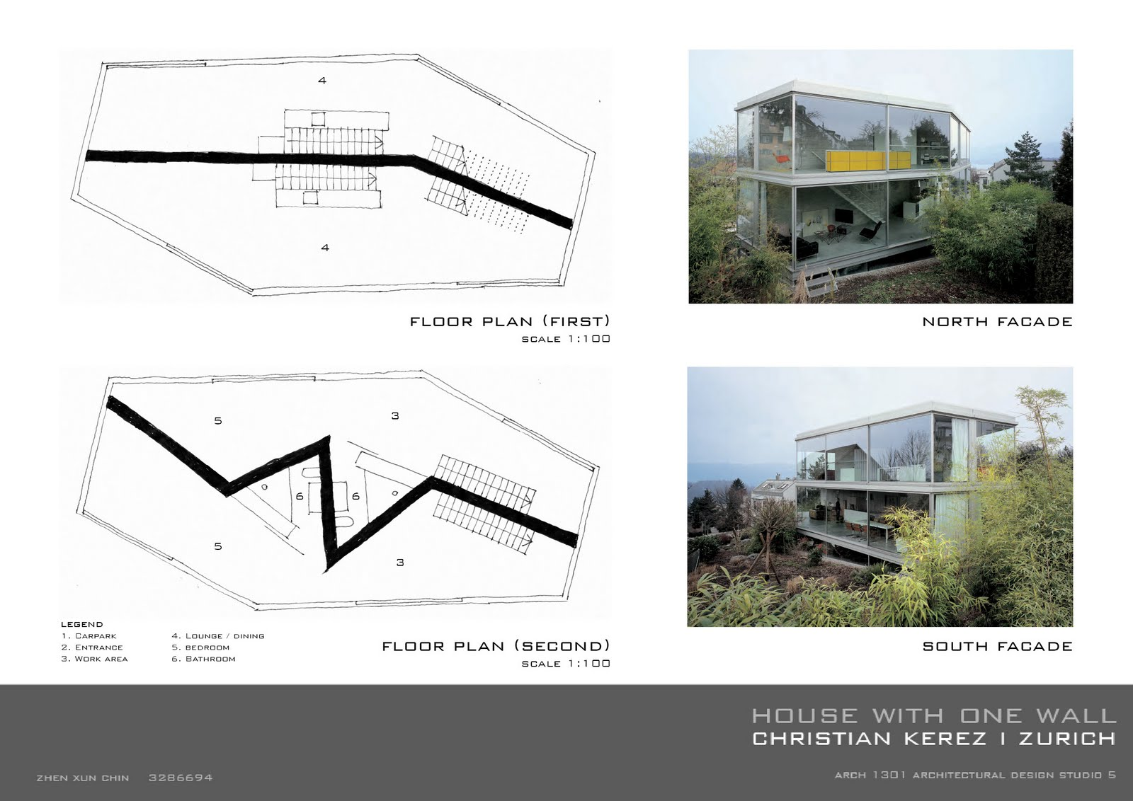 Floor Plan Renderings Zhenxun Chin Week 2 Precedent Study House With One