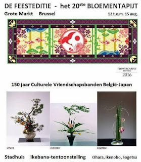Nippon Origami Association .ohara, ikenobo, sogetsu, brussuls, belgium,