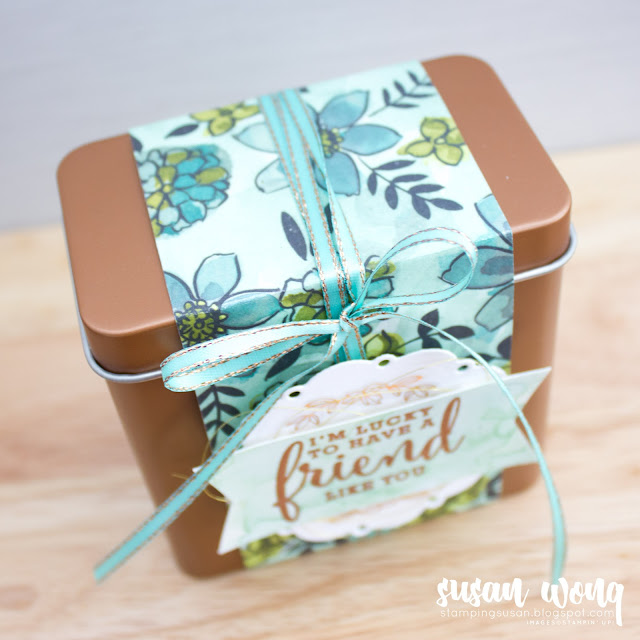 Love What You Do Copper Tea Tin - Stampin' Up! - Susan Wong for Fancy Friday Blog Hop