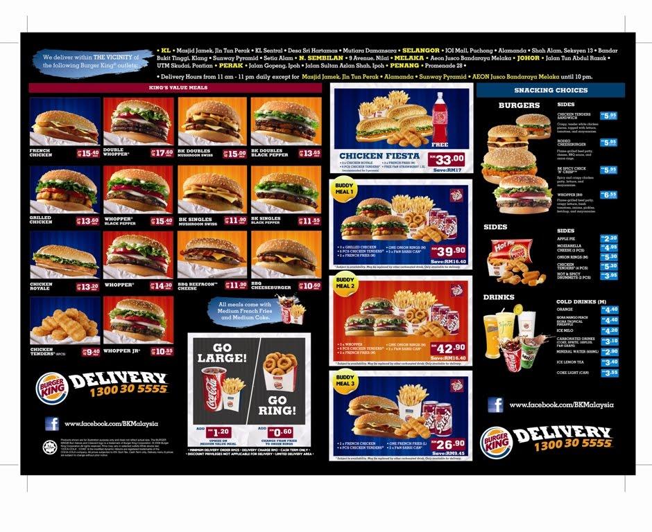 Delivery Order: Burger King Delivery Order