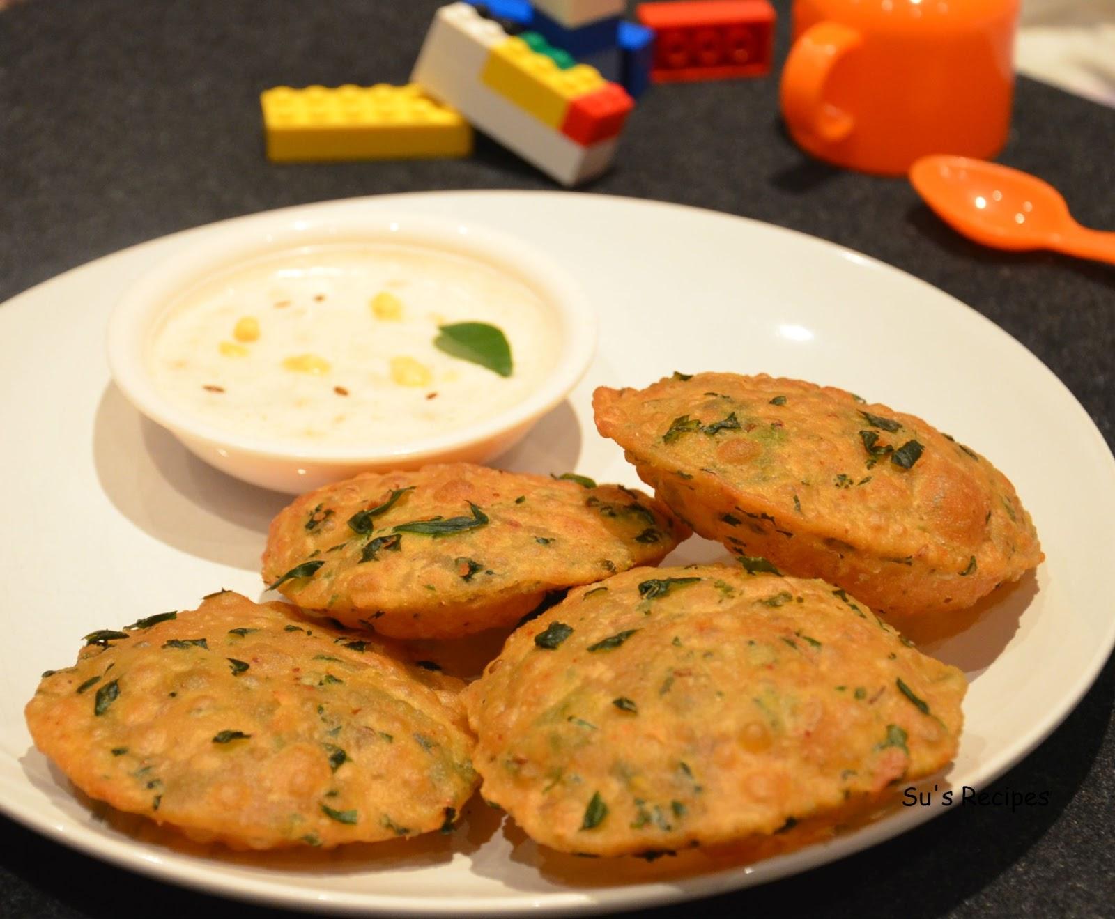 Methi Poori Menthu Koora Tiffen Dish Indian Breakfast Kids