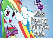 juegos equestria girls miss loyalty rainbow dash