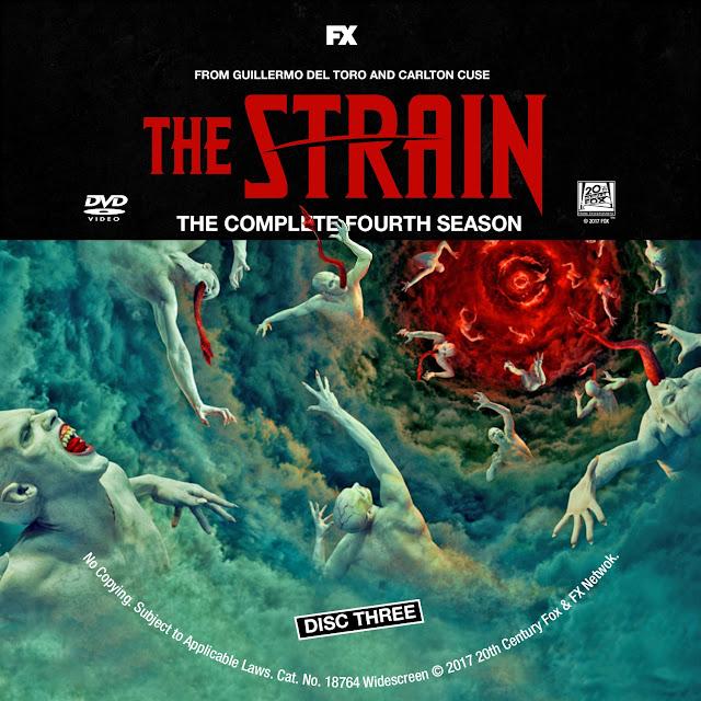 The Strain Season 4 Disc 3 DVD Label