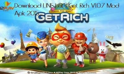Download LINE Let's Get Rich V1.0.7 Mod Apk 2015