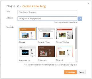 Cara Membuat Blog Gratis Di Blogspot Itu Mudah
