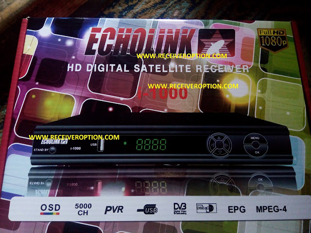 ECHOLINK I-1000 HD RECEIVER BISS KEY OPTION