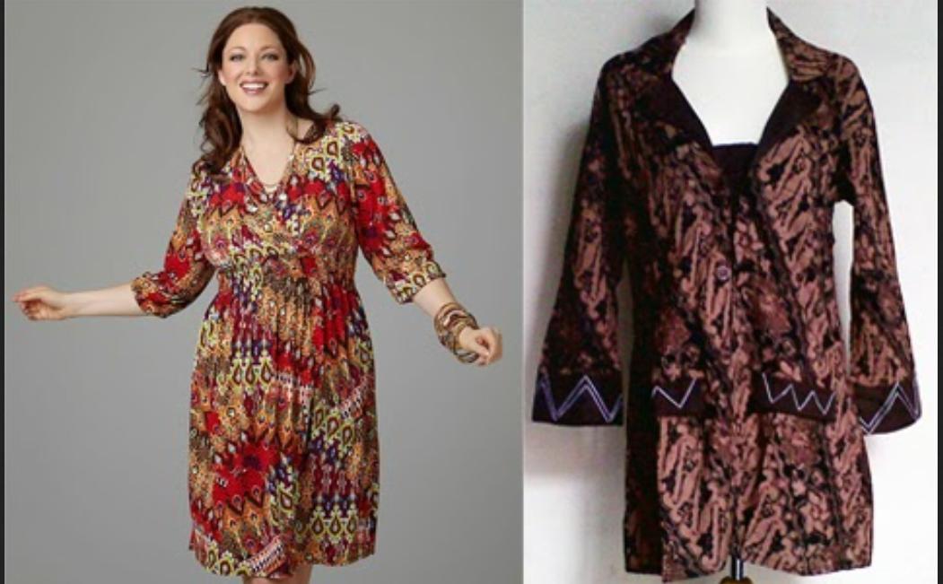 Model Baju Batik Untuk Orang Gemuk Agar Terlihat Langsing