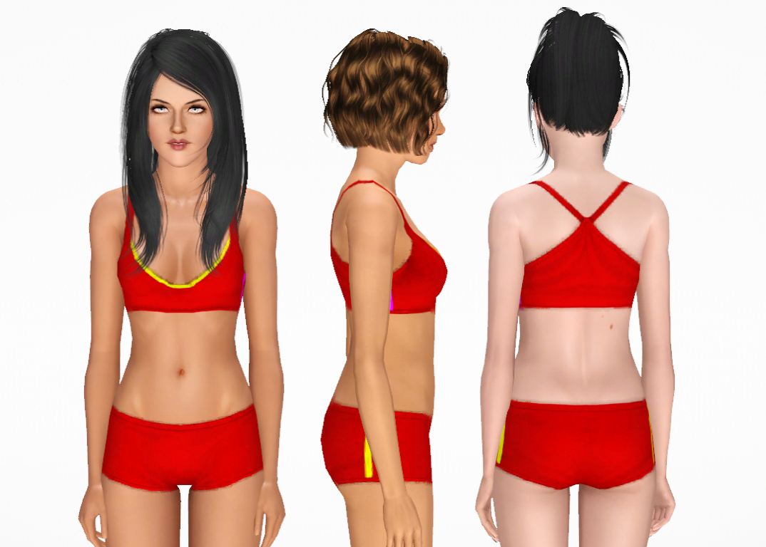 Mix And Match Athletic Striped Tops And Bottoms Nygirl Sims