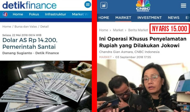 Saat Dolar Rp 14.200 Pemerintah Santai, Sekarang Nyaris Rp 15.000 Mulai Panik