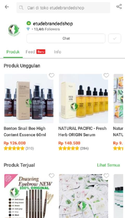 etudebrandedshop Salah Satu Toko Kosmetik Terlaris di Shopee