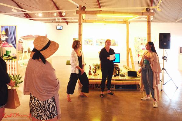 Caroline Garcia - Live Performance & floor talk at Cement Fondu Gallery Paddington, Sydney. Photography by Kent Johnson.