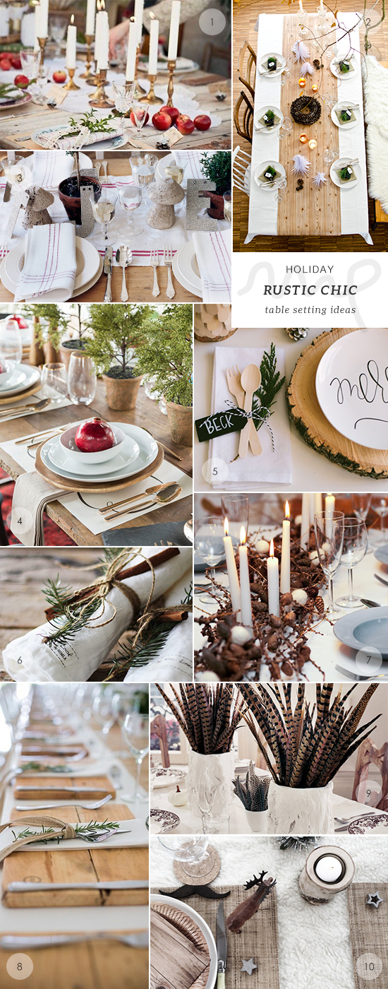 50 holiday table setting ideas my paradissi Christmas place setting ideas