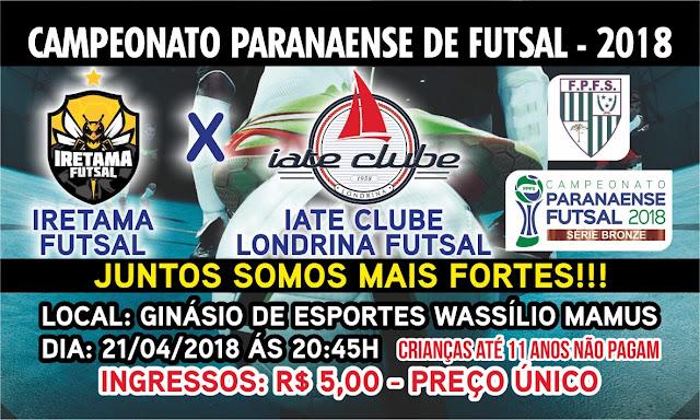 Iretama enfrenta Londrina neste sábado