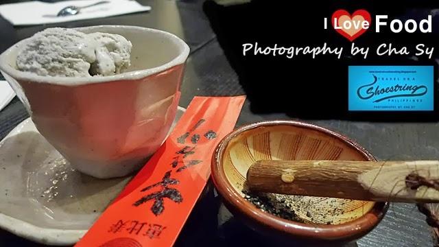 kurogoma aisukurimu, Kuro Goma Purin or Black Sesame Pudding (黒ごまプリン), Black Sesame Seed, Ice Cream, Kimukatsu, Shangri-la, Manila, Philippines