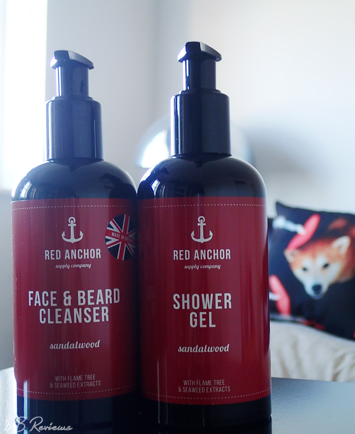 Red Anchor Wash Room Set