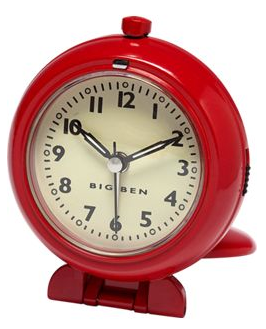 red Big Ben travel alarm clock