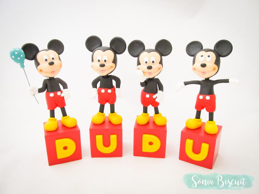 Cubos Decorativos Mickey Biscuit