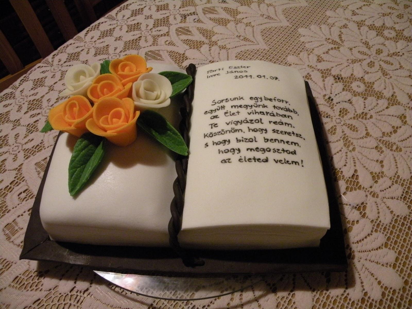 könyv torta képek 12. Könyv torta rózsákkal | Cukrászati megmozdulásaim könyv torta képek