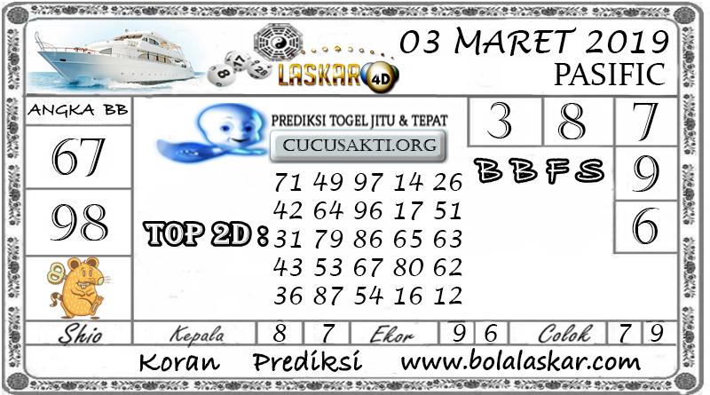 Prediksi Togel PASIFIC LASKAR4D 03 MARET 2019