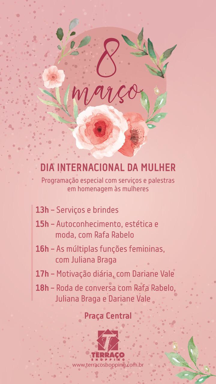 Terraço Shopping realiza evento especial para celebrar o Dia da Mulher