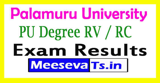 Palamuru University PU Degree 2nd Sem RV / RC  Exam Results 2017