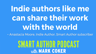 "image reads:  ""Indie authors like me can share their work with the world"""
