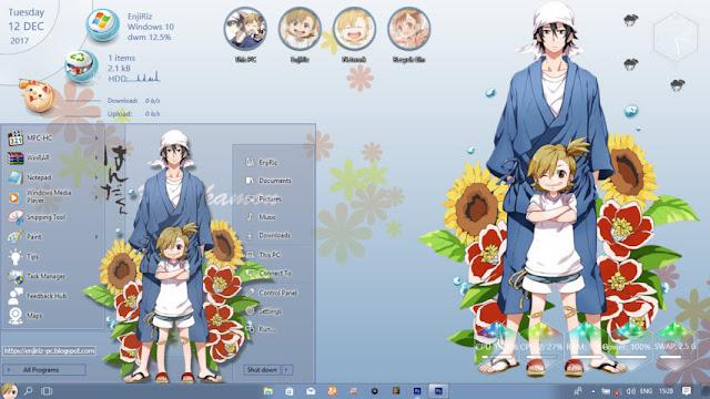 Windows 10 Ver. 1703 Theme Barakamon by Enji Riz