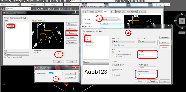 setting dimensi Isometry Autocad