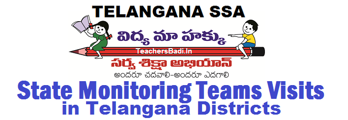 RCNo.25,TSSA Monitoring Teams to Visit in Telangana Districts,State Level Monitoring Team Quarter Wise Visits,Inspections,Observations,Interventions, State Team to visit KGBV, STC, Residential Centres, Hostels, School Complexes,