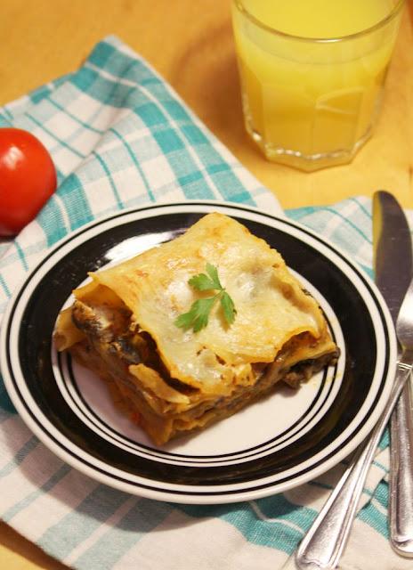 Lasagne z pieczarkami