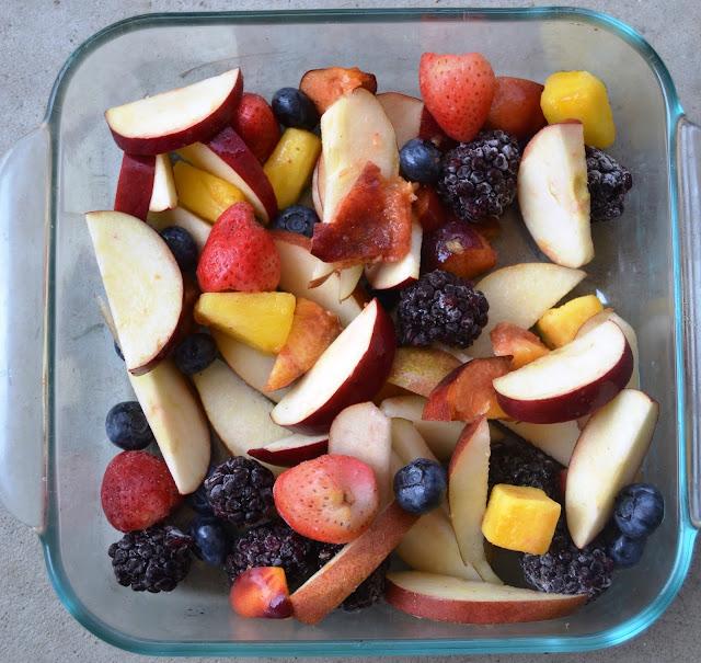 Healthier Protein Fruit Crisp
