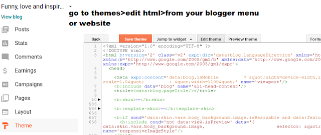 how to add advertising codes to blog or website