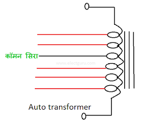 Auto transformer working in stabilizer