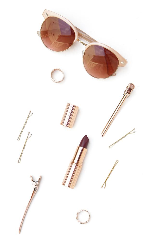 Charlotte Tilbury Glastonberry & Forever21 Rosegold Sunglasses