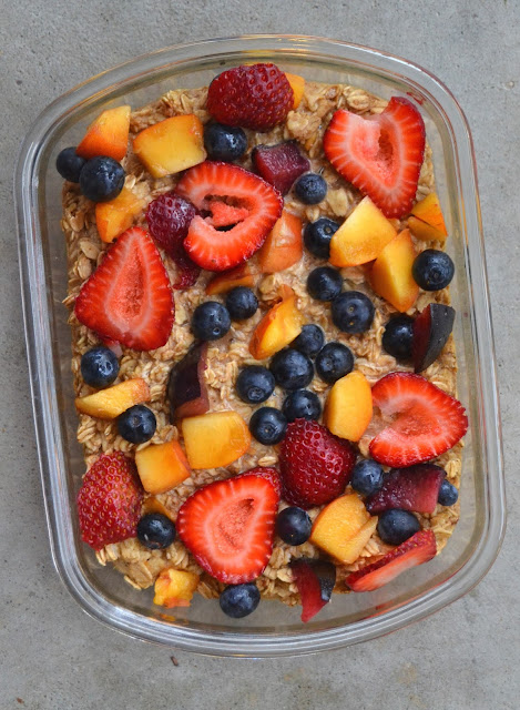 Summer Fruit Baked Oatmeal