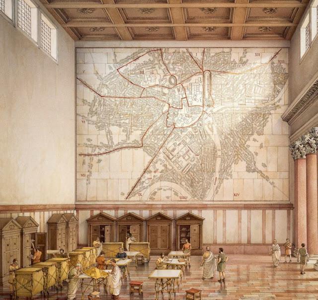 Rome S Giant Marble Map Layohn