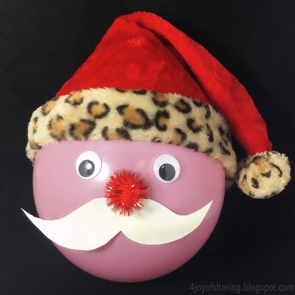 how to make a santa claus beard with cotton balls