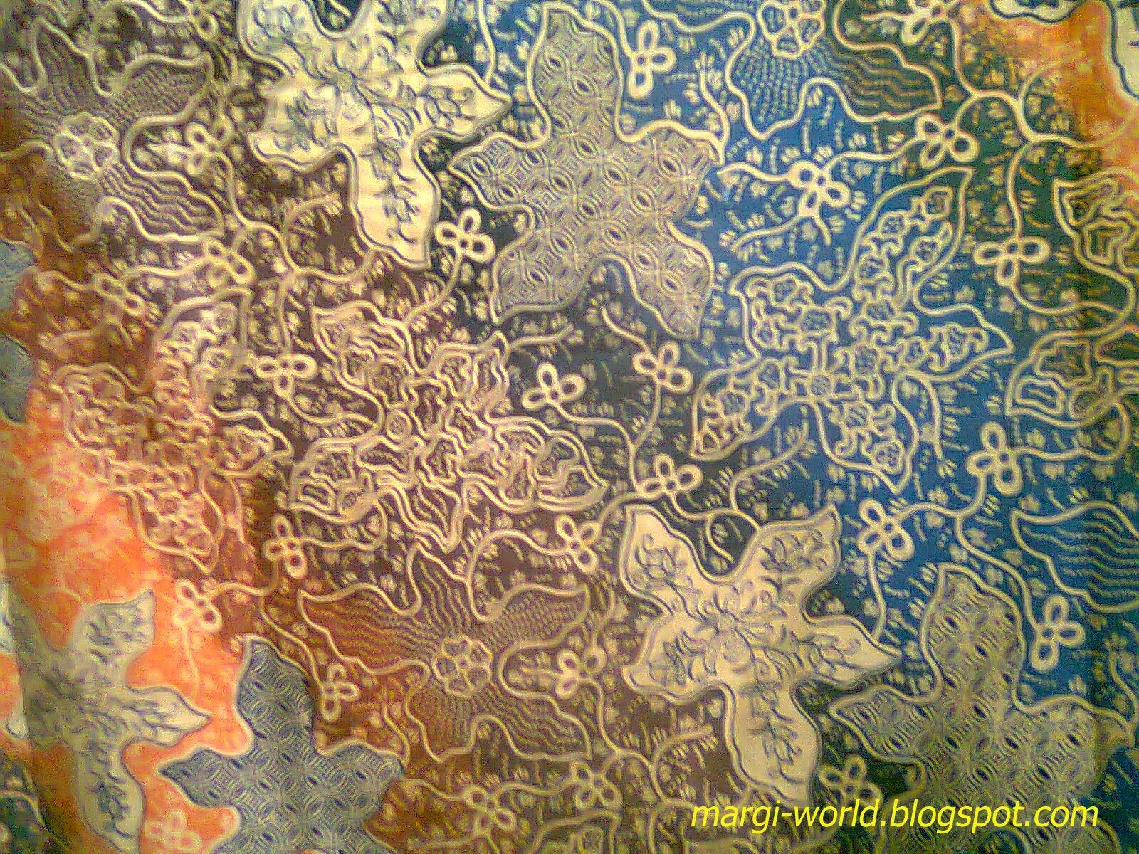 Contoh gambar desain batik abstak dengan sentuhan natural