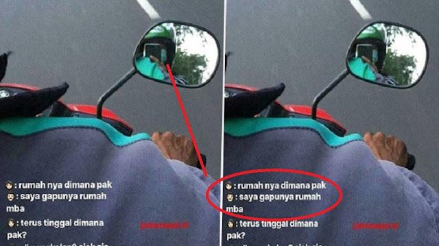 PILU!! Inilah Jawaban dari Driver Ojek Waktu Ditanya 'Tinggal Dimana' ! Sungguh Menyedihkan!!