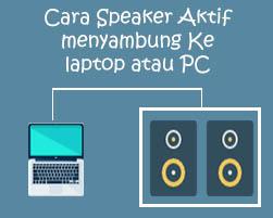 Cara Speaker Aktif Menyambung Ke Laptop Atau Pc Bewok Programming