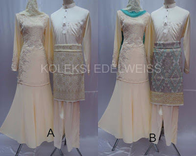 sET BAJU NIKAH  Warna  cREAM