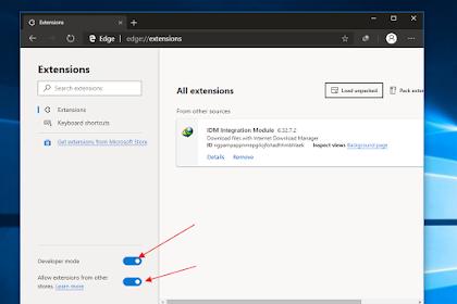 Cara Menambahkan Extensi Internet Download Manager di Microsoft Edge Berbasis Chromium!
