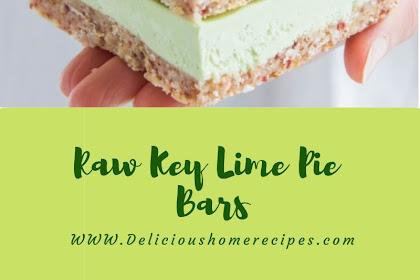 Raw Key Lime Pie Bars #christmas #dessert