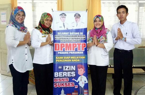 Dinas PMPTP Padangpariaman Buka Online 30 Jenis Izin