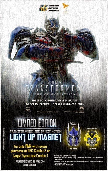 Promosi GSC - Transformers Light Up Magnet Head Edisi Terhad