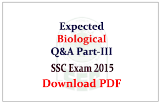 List of Expected General Awareness Questions from Science (Biology) Capsule Download